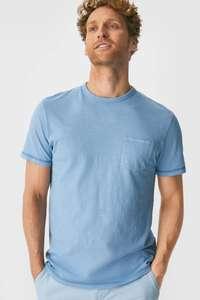 Heren tops, t-shirts en polo's afgeprijsd - v.a. €1,99 p.s. @ C&A