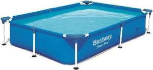 Bestway Steel Pro Zwembad - 221x150x43 cm - Behoorlijk afgeprijsd !