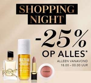 Vanaf 18u: Shopping Night = 25% korting