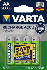 10 x 4 AA oplaadbare batterijen 2600mAh voor €19,18 bij Amazon.nl