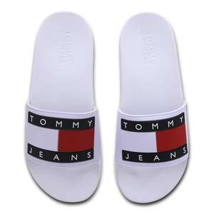 Tommy Jeans Flag Pool slippers wit voor €15,99 @ Foot Lcoker