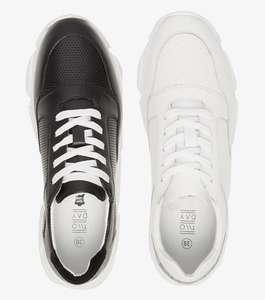 Leren dames 'dad' sneakers (wit of zwart) van €69,99 naar €19 @ Scapino