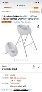 Chicco bubble nest grey shower/bathtub