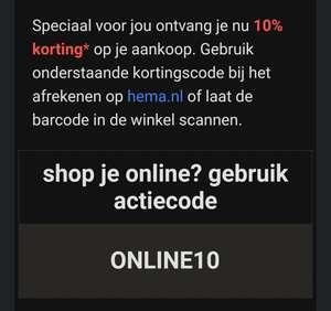 Gewoon 10% online bij Hema