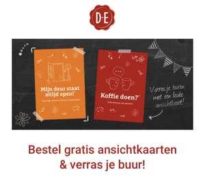 Douwe Egberts gratis 3 ansichtkaarten