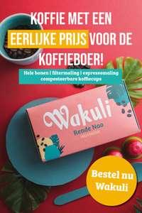 50% korting op eerste levering Wakuli koffie