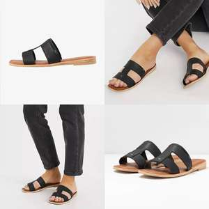 TOMS Seacliff - leren slippers