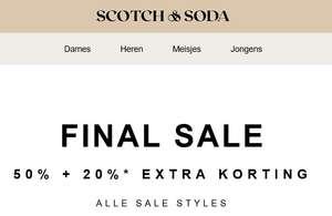 SALE -50% + 20% EXTRA @ Scotch & Soda