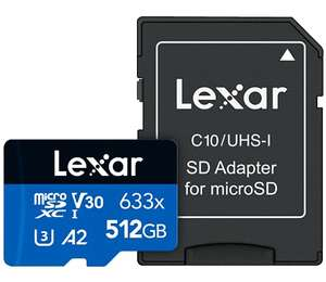 Lexar High-Performance 633x 512 GB microSDXC UHS-I-kaart