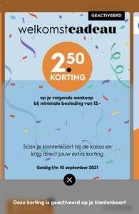 2.50 euro korting bij downloaden app