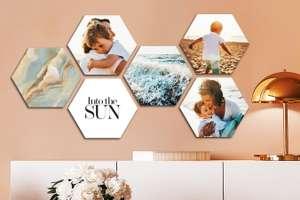 Wanddecoratie met eigen foto (verschillende formaten en vormen) - v.a. €2,79 per stuk