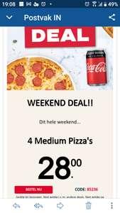 4 Medium Pizza's €28 @Domino's