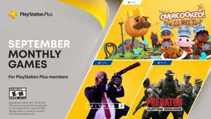 PS Plus Games (September 2021) - Overcooked! All You Can Eat (PS5), Hitman 2 (PS4), Predator: Hunting Grounds (PS4)
