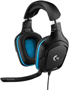 Logitech G432 Gaming Headset, 7.1 surround sound, DTS Headphone:X 2.0