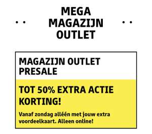 Magazijn outlet tot 50% extra korting [KRUIDVAT]