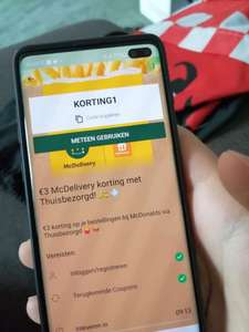 Thuisbezorgd McDonald's 3 euro