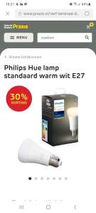 30% korting op Philips Hue bij Praxis