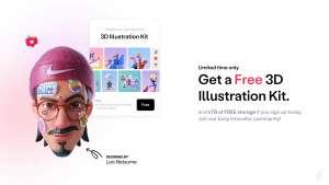 Gratis 4TB opslag bij 3D Illustration Kit @Playbook