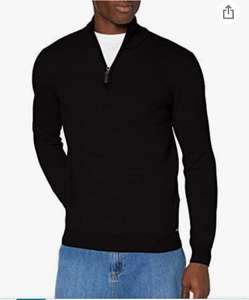 Superdry Henley trui zwart in maten M, L en XL