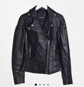 ASOS barneys originals clara leather jacket tall