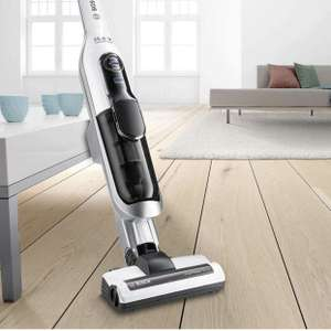 Bosch BBH625W60 stofzuiger extra hoog vermogen, alle vloertypes, duurzame accu's, korte oplaadtijd, zeer flexibel, 1.500 watt) wit