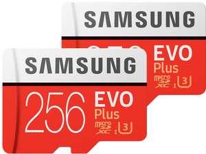 2x Samsung EVO Plus microSD 256 GB