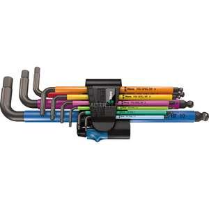 Wera Inbussleutelset 950/9 Hex-Plus Multicolour HF 1 schroevendraaier