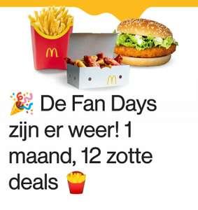 [GRENSDEAL BELGIË] McDonald's fan days, 1 maand lang 12 deals