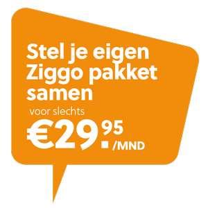 Ziggo 9mnd voor €29,95 + €50 cashback + gratis ESPN/Ziggo Sport/Volop Bellen
