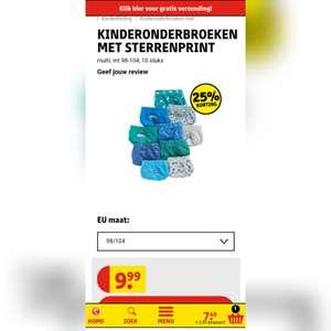 Kruidvat kinderondergoed mega magazijn Outlet 10 stuks €7,50