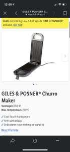 Churros maker