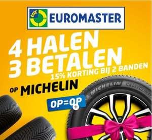 Michelin banden: 4 halen 3 betalen bij Euromaster in Nederland