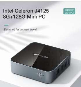 BlitzWolf® BW-MPC1 Intel Celeron J4125 8GB LPDDR4 128GB eMMC Mini PC Quad Core windows 10
