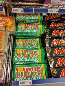 Die Grenze extra grote reep Tony's Chocolonely hazelnoot 300 gram voor €2