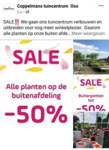 [Lokaal ] 50% korting op buiten afdeling @Coppelmans Oss