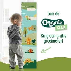 Gratis groeimeter van Organix (tot max. 115cm)