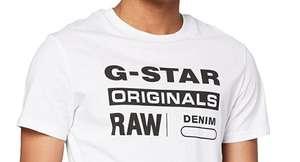 G-star t-shirt wit in maten xxs t/m xxl