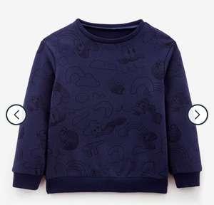Kindersweater marineblauw met print (unisex)