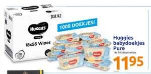 Huggies Pure babydoekjes 18 pakjes voor €11,95