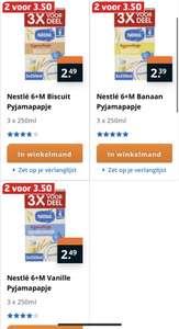 Nestlé 6+M Pyjamapapje 2 voor €3,50 verschillende smaakjes