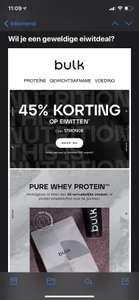 45% korting op eiwitten bij minimale besteding van €35