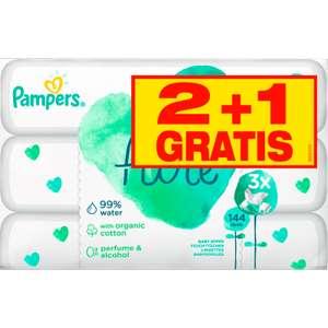 Pampers Aqua Pure babydoekjes 2+4 gratis bij Etos