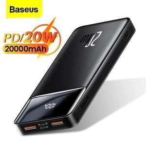 Baseus 20000 mAh 20W PD QC3.0 powerbank voor €18,58 @ BangGood