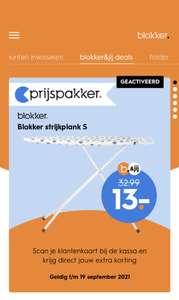 Blokker strijkplank - small - 110 x 33 cm voor €13 (ipv €32,99) @ Blokker App