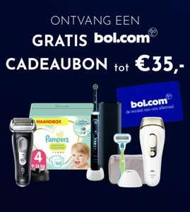 Gratis bol.com cadeaukaart tot €35 bij Pampers, Oral B, Braun (geselecteerde producten)