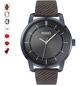 Hugo Boss 44mm horloge 3ATM lederen band