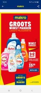 Robijn wasmiddel of wasverzachter 1 + 2 gratis