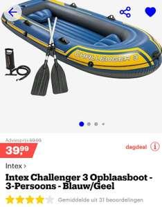 Dagdeal Bol.com: Intex challenger opblaasboot 3 pers