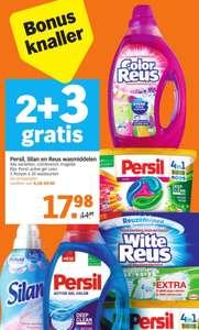2+3 Gratis Persil, Silan en Reus wasmiddelen @ Albert Heijn