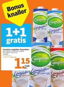 1+1 Gratis Campina Langlekker literpakken @ Albert Heijn